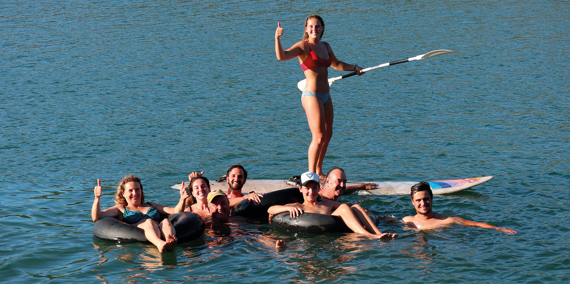 Group of people in water